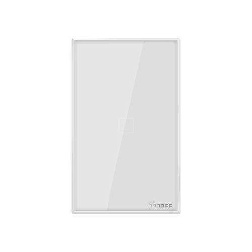 SONOFF T0US1C - Interruptor inteligente de luz inalámbrica WiFi de pared, interruptor de 1 canal para soluciones de automatización de la casa inteligente, es compatible con Alexa, Google Home (1-way)