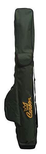 Carson - Fodero Porta Canne da Pesca Deluxe MF-3000/1 con Tasche da 160cm|Contiene 4-5 Canne Bolognesi o 10 Canne Fisse|Fondo Antisfondamento|2 Tasche Porta Picchetti e Accessori|Materiale Resistente