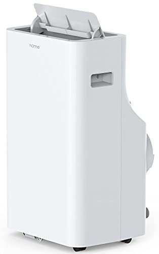 hOmelabs 14000 BTU Portable Air Conditioner (new CEC 10000 BTU) - Quiet AC Unit Cools Rooms 450-600 Square Feet - with Wheels, Washable Filter, Remote Control and LED Indicator Lights