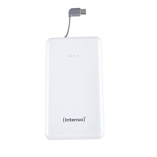 Intenso S10000-C Slim Powerbank mit Type C Ladekabel - Externes Ladegerät, 10000mAh weiß
