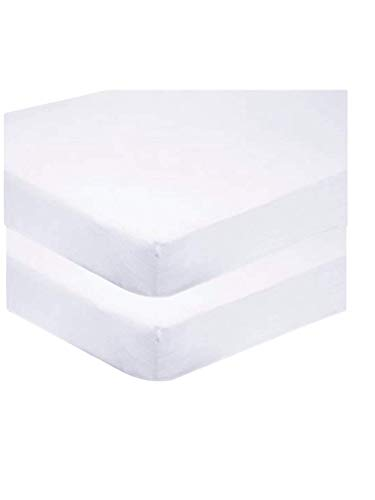 Sasma Home - 2 sábanas bajeras para Cuna 100% algodón Muy Suave (70 x 140 cm)...