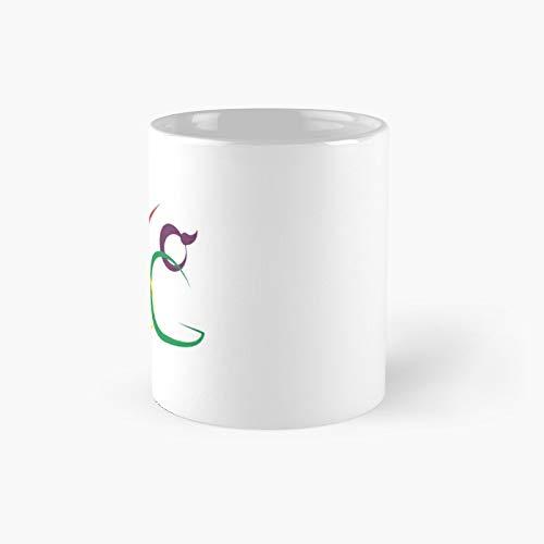 Taza clásica de yoga con diseño abstracto, ideal como regalo para café, 325 ml
