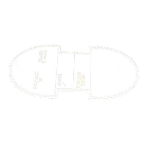 Baoblaze Acryl Vorlagen Leder Werkzeug Schablone Lederhandwerk Prägeschablonen für Kleingeldbörse, Münztasche, Schlüsseltasche