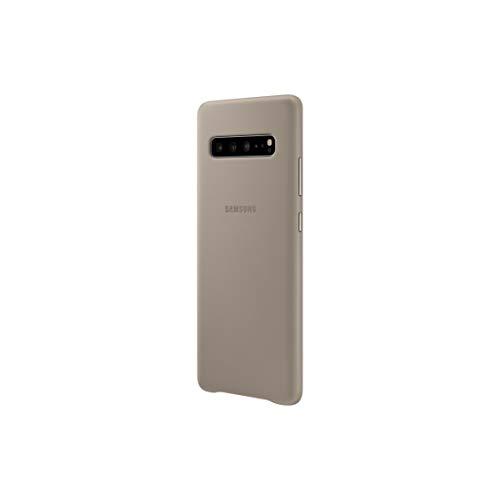 Samsung Schutzhülle aus Leder für Galaxy S10 5G – Offizielle Samsung Galaxy S10 5G – Strapazierfähige Schutzhülle aus echtem Leder für Galaxy S10 5G – Grau