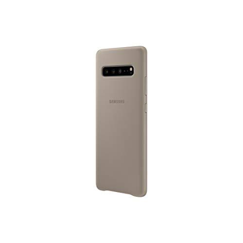 Custodia protettiva in pelle per Samsung Galaxy S10 5G – Custodia ufficiale Samsung Galaxy S10 5G – Custodia in vera pelle resistente per Galaxy S10 5G – Grigio