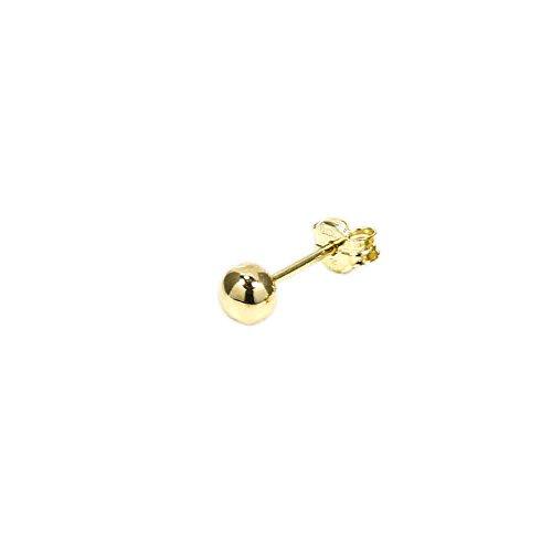 NKlaus BALL EARPLUG 375 gold yellow gold OHRSCHMUCK OHRRINGE ball plug 5566