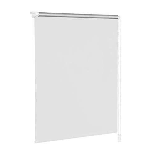 HENGMEI ThermoRollo Verdunkelung Fenster-Rollo Klemmfix ohne Bohren-Weiß weitere Größen (100 x 160 cm)
