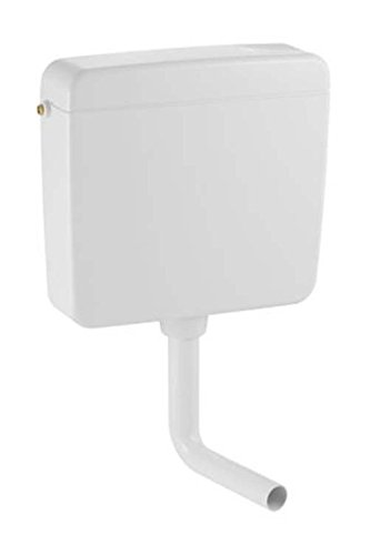 Geberit Aufputz Spülkasten AP127 mit Spül-Stopp-Spülung, Toilettenspülung tief hängend, mit flexiblem Wasseranschluss, geräuscharm, weiß, Art.Nr. 127000111