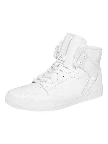 Supra Vaider Skate Shoe, White-White, 8 Regular US