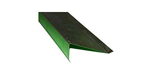 Ortgangblech für Flachdach 1 m lang Aluminium 0,8 mm (klein)