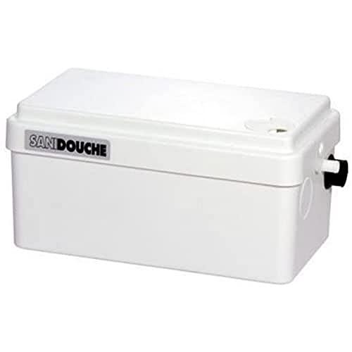 SFA Abwasserpumpe SaniDouche speziell für Duschen, Hebeanlage für Abwasserentsorgung aus Waschtisch, Dusche und Bidet, Haushaltspumpe mit 2 Anschlüssen, 0016