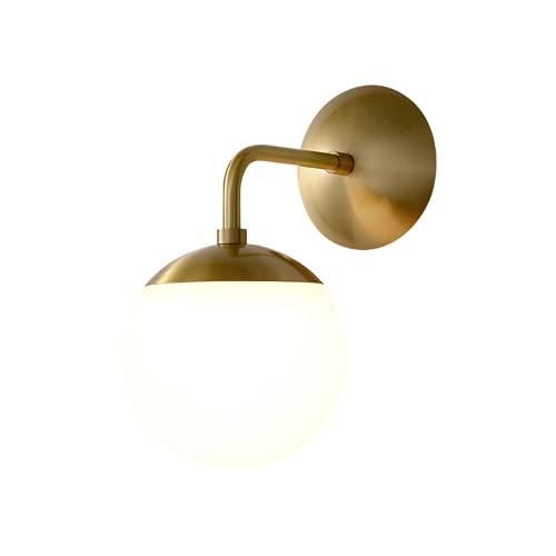 CHENXTT - Applique da salotto nordico, in ottone, semplice moderno, nero, per camera da letto, soggiorno, lampada da comodino, corridoio, applique creativa luce neutra, 26 x 15 cm