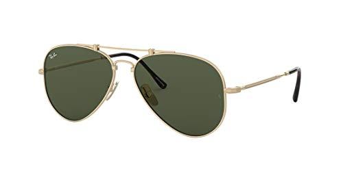 Ray-Ban Rb8125 TITANIO-0RB8125913658, Gold, 58 Unisex Adulto