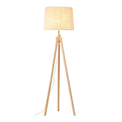 ZXQ Lámpara de piso interior, sala de estar simplicidad moderna estudio lámpara de pie madera maciza luz cálida decoración del hogar luz de lectura hogar