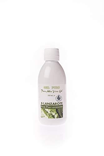 Lanzaloe Gel Puro - Reines Aloe Vera Gel, Natürliches Gel, welches die Haut mit Feuchtigkeit versorgt, schützt und die Haut regeneriert.