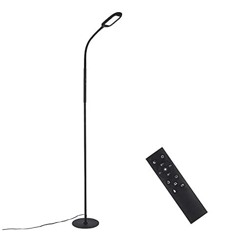 Lámpara de Pie,Tomshine 126 LEDs Lámpara de Pie Salon,4 Color Temperatura,6 Modos de Escena,Infinito Regulable,Control Remoto y Control Táctil,Luz de Lectura Desmontable para Salón,Dormitorio,Oficina