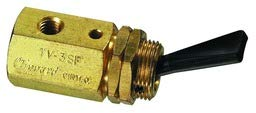 3-Way Toggle Valve, N-C, Plastic Toggle, 10-32 from Clippard