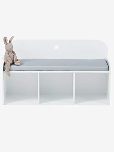 VERTBAUDET Kinder-Sitzbank,Sirius weiß/grau ONE Size