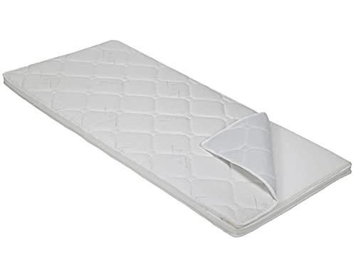 BMM Topper Komfort KSCell®-Schaum Matratzenauflage für Matratzen, SilverCare 3D-Klimaband Border Bezug, Härtegrad H2/H3 mittelfest, Höhe ca. 8cm, 90x200 cm