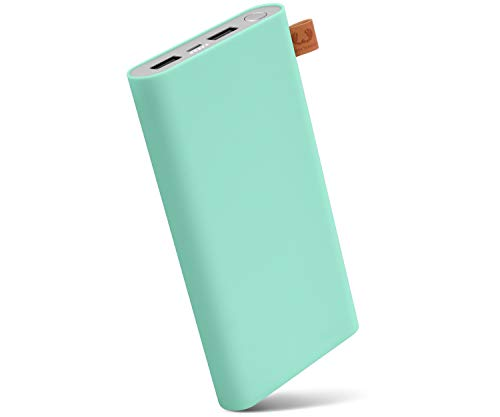 Fresh 'n Rebel Powerbank 12000 mAh Peppermint | Tragbares Ladegerät/Externer Akku mit 2 USB Anschlüssen