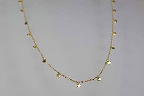 Zierliche Silberkette mit polierten Plättchen - wähle Dein Wunschfinish