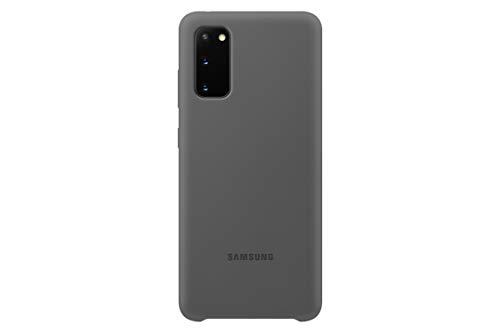Samsung Silicone Smartphone Cover EF-PG980 für Galaxy S20 | S20 5G Handy-Hülle, Silikon, Schutz Hülle, stoßfest, dünn & griffig, grau