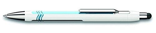 Schneider Epsilon Touch Druckkugelschreiber (Strichstärke XB, dokumentenechte Mine- Schreibfarbe: blau, inkl. Touchpen, Made in Germany) Schaftfarbe: weiß-blau