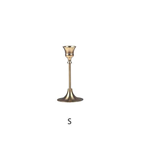 Kerzenhalter Aus Messing Mit Einem Kopf Antiker Kerzenhalter Auf Dem Tisch, Valentinstag Weihnachten, Halloween, Hochzeit, Bankett, Kerzenhalter Für Das Abendessen