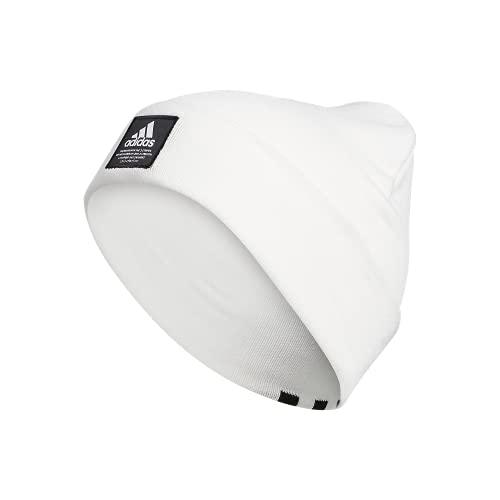 adidas Men's Amplifier Fold Beanie, White/Black F21, One Size