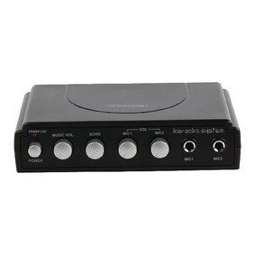 König HAV-KM11 Karaoke Mixer (2X Mikrofone) schwarz