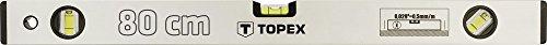 Topex 29C303 Aluminium-Wasserwaage eloxiert 80 cm