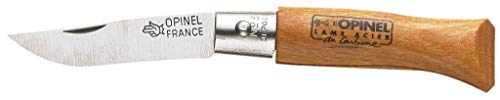 Opinel O111030 Navaja N°03 Carbono, Unisex, marrón, S