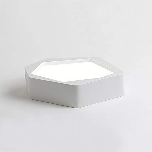 FGAITH plafondlamp, 12 W, LED, montage aan de rand, creatief licht, geometrische vorm, plafondverlichting, eetkamerverlichting, hal, woonkamer, keuken, slaapkamer, veranda, kantoor