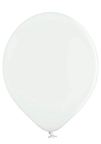 Ballonheld 50 große Premium Luftballons 100% Bio, Freie Farbwahl 40 Farben 27cm Durchmesser, heliumgeeignet, für Party, Geburtstag, Feiern (weiß)