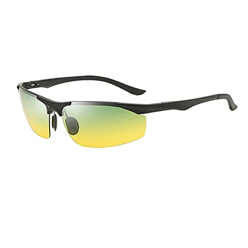 HGJINFANF Gafas de Sol polarizadas for Hombres con Marco de magnesio de Aluminio, Gafas de Sol Deportivas Que cambian de Color for Ciclismo y conducción, Gafas de Pesca polarizadas