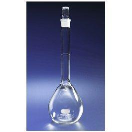 Corning Pyrex Borosilicate Glass Class B Flat Bottom Economy Volumetric Flasks with Glass Standard Taper Stopper, 1000ml Capacity (Case of 6)