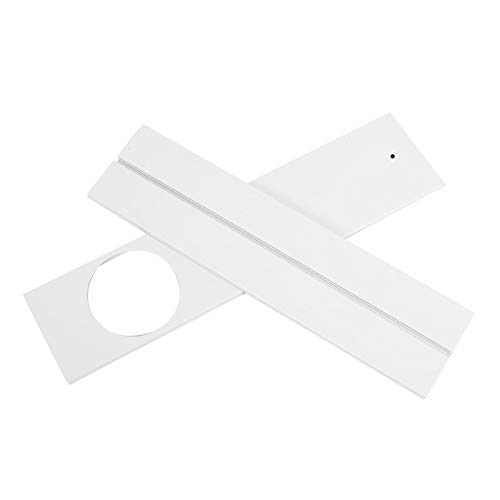 Omabeta Kit de Sellado de Ventana Accesorio de Aire Acondicionado Duradero Deflector de Sellado de Ventana Hogar de ABS Aire Acondicionado móvil(3-Section Baffle)
