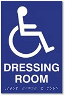 ADA Compliant Wheelchair Accessible Symbol Dressing Room Sign with Tactile Text and Grade 2 Braille - 6x9