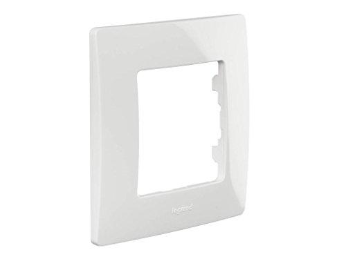 Legrand NILOE - Marco simple para 1 interruptor, pulsador o enchufe, Blanco