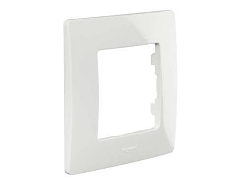 Legrand NILOE - Marco simple para 1 interruptor, pulsador o enchufe, Blanco