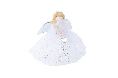 Decoración para árbol de Navidad, diseño de ángel de Navidad, Color Plateado, de CGB Giftware's Joy To The...
