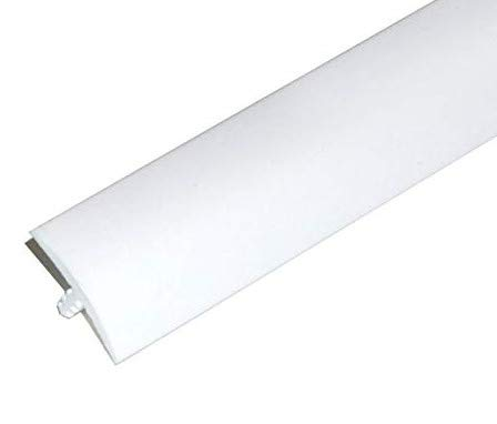 Edge Supply White 3/4 in x 25 Ft Center Barb Tee Moulding T Molding Hobbyist Pack, Small Projects, Arcade Machines and Tables (25 FT)