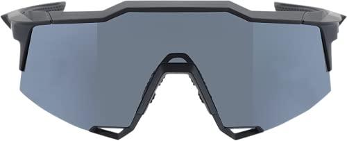 100% Speedcraft Sport Performance - Gafas de sol deportivas y de ciclismo, Lente ahumada negra de tacto suave., Talla única