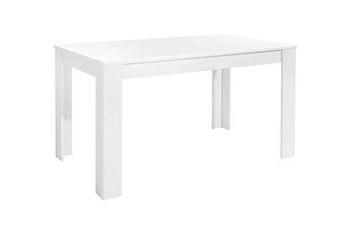 Homexperts Nick Tisch, Spanplatte, Weiß, 140 x 80 cm