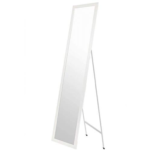 Espejo de Pie Blanco. Espejo Grande de Suelo para Dormitorio, Fácil Montaje 35x125cm - Hogar y Más - Blanco