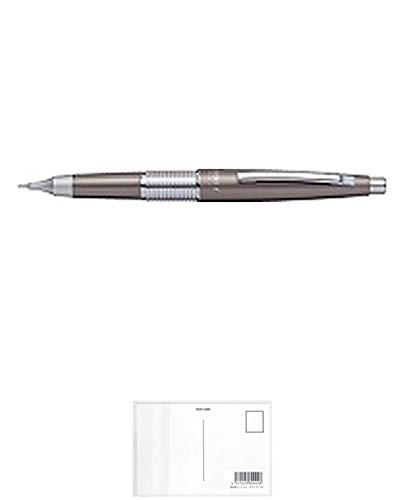ぺんてる シャープペン万年CIL(ケリー) キャップ式 P1035-ND スモーキーグレイ軸 + 画材屋ドットコム ポストカードA