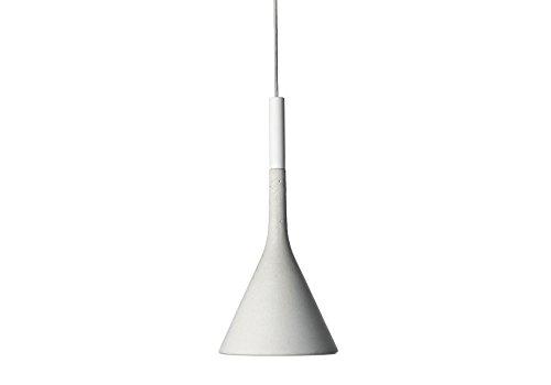 Foscarini Design/Modern Foscarini Pendelleuchte/Pendellampe/Hängelampe/Lampe/Leuchte Aplomb Sospensione LED weiß/Innenbeleuchtung/Wohnzimmerlampe/Schlafzimmer/Küche Metall/Stein/Beto