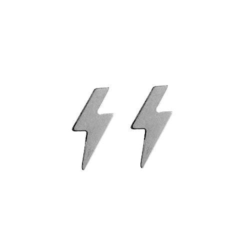 Pendientes plata Ley 925m rayos 12x5mm. lisos cierre presión mujer [AC1216]