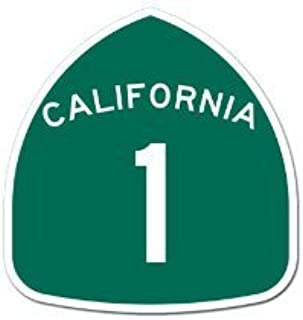 California Pacific Coast Highway PCH 1 Sign Sticker
