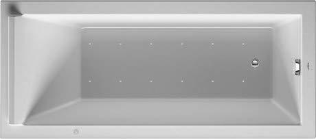 Duravit Whirlpool Rechteck Starck 1700x800mm Einbauversion oder für Wannenverkleidung, eine Rückenschräge, Gestell, Ab- und Überlaufgarnitur, Airsystem - 760336000AS0000